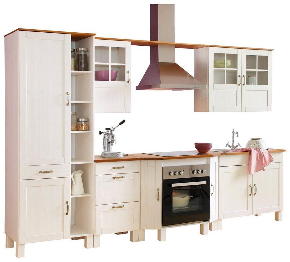 landhauskuche otto, küchenblock »alby« breite 325 cm aus massiver kiefer online kaufen, Design ideen