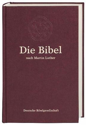 Gebundenes Buch »Die Bibel, Lutherübersetzung, burgunderrot...«