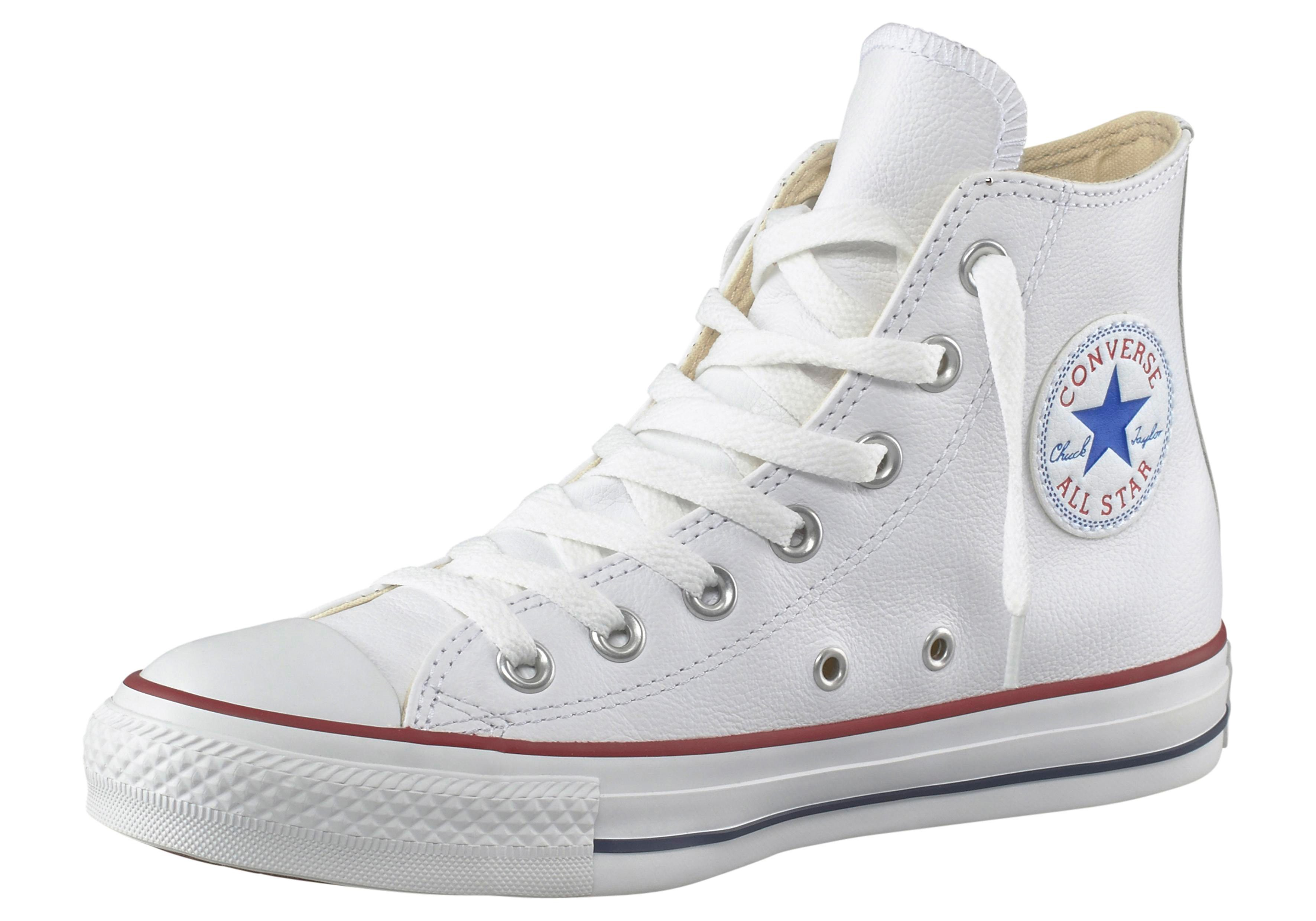 Converse All Star Basic Leather Hi Sneaker  weiß