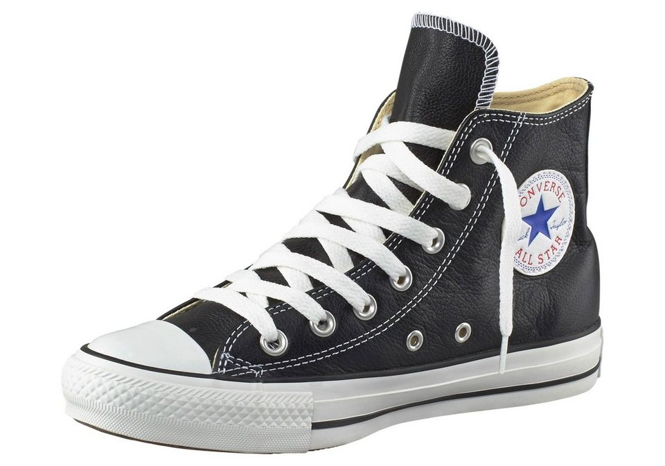 Converse All Star Basic Leather Sneaker in Schwarz
