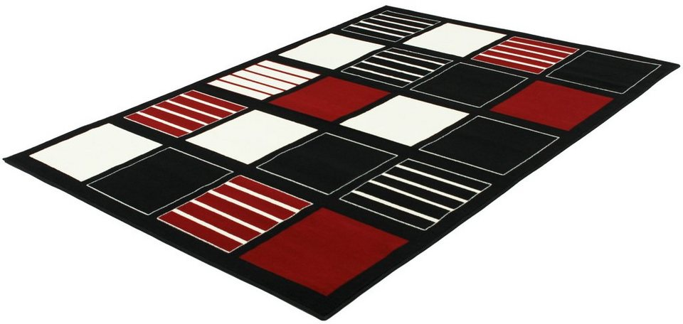 Teppich, Trend Teppiche, »BLOCKS-502211« in black