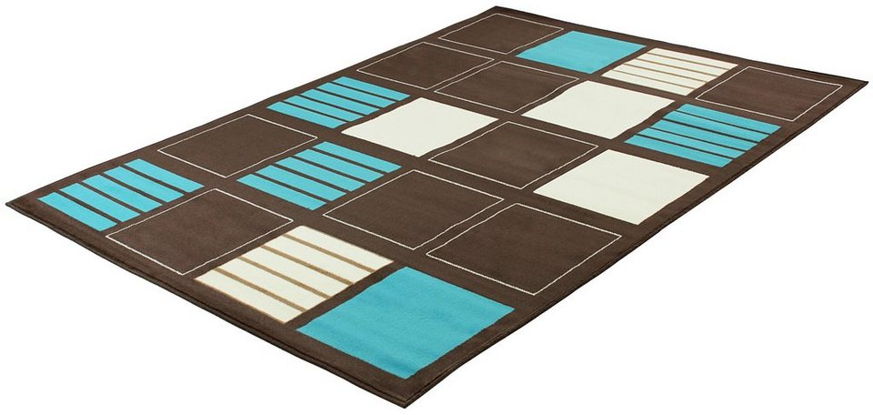 Teppich, Trend Teppiche, »BLOCKS-502211« in darkchoco