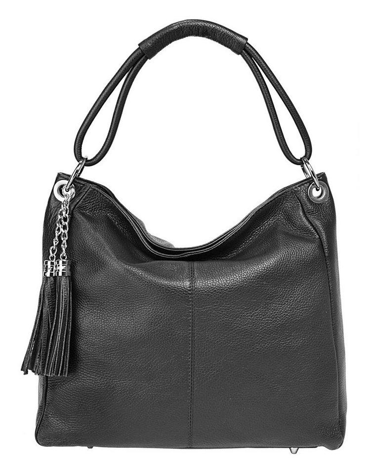 Eastline Leder Damen Shopper »Luna« in schwarz