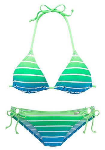 Damen Venice Beach Triangel-Bikini in Neonfarben grün | 04893865453090