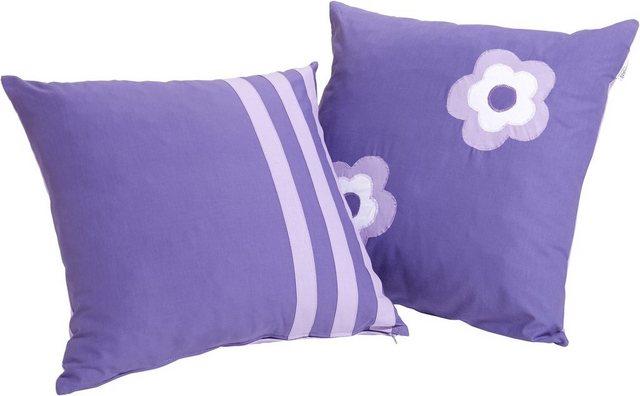 Hoppekids Kissen »Purple Flower« (2 Stck.) | Kinderzimmer > Textilien für Kinder > Kinderkissen | Hoppekids