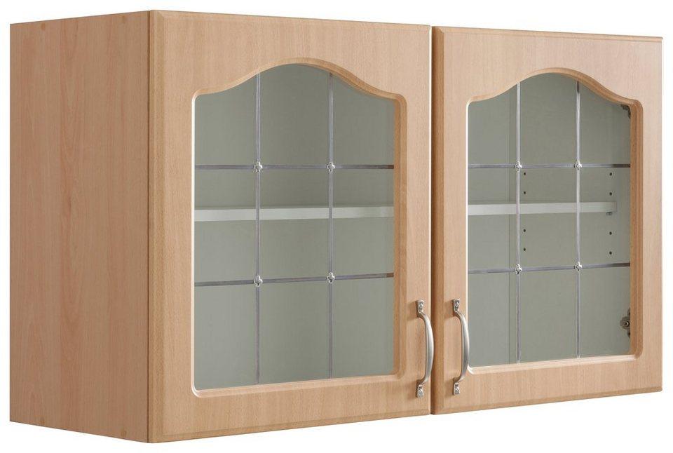 wiho Küchen Glashängeschrank »Linz«, Hochwertig verarbeitete MDF-Fronten  online kaufen | OTTO