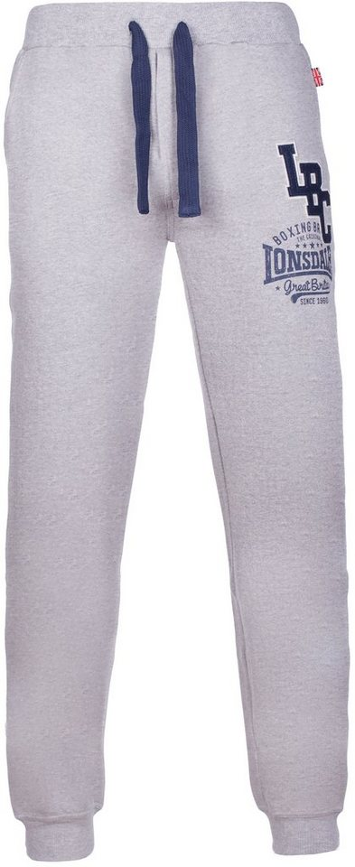Lonsdale Jogginghose in Marl Grey