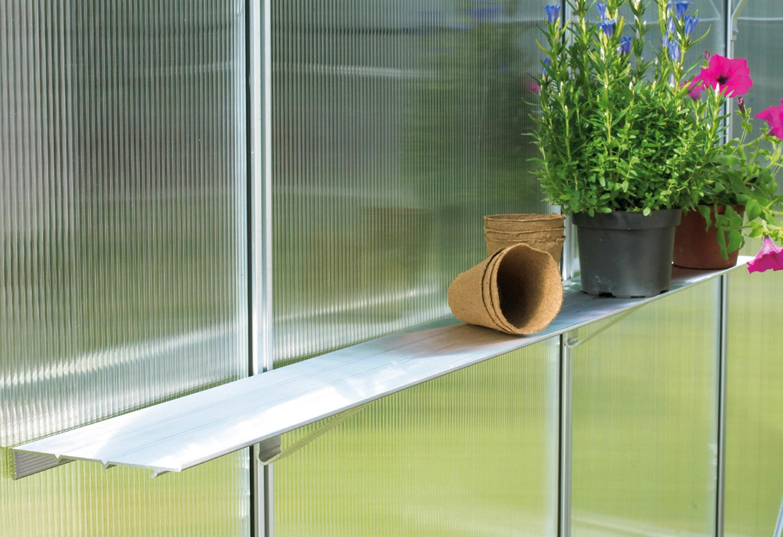 Vitavia Sparset: Tisch-/Regal-Set für Gewächshäuser, aluminumfarben