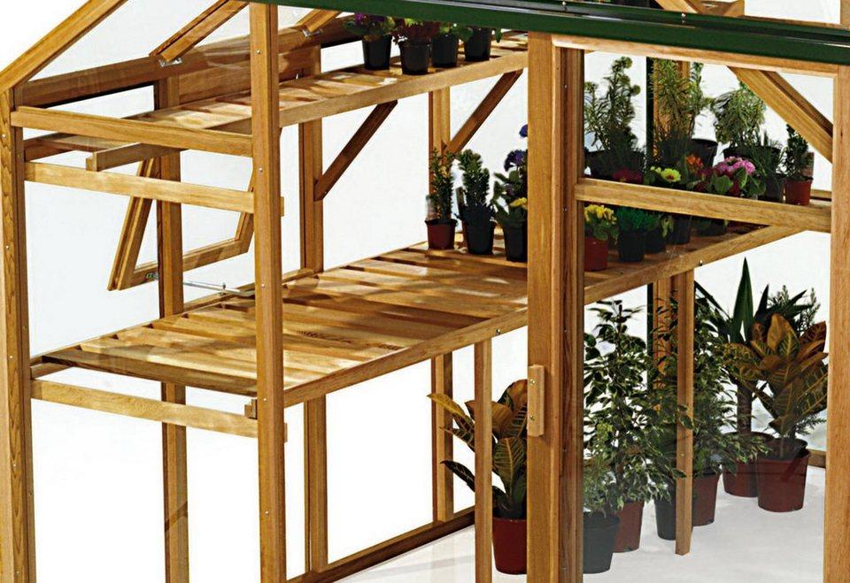 JULIANA Tisch »Classic 4,4«, BxT: 230x50 cm, aus Holz in braun