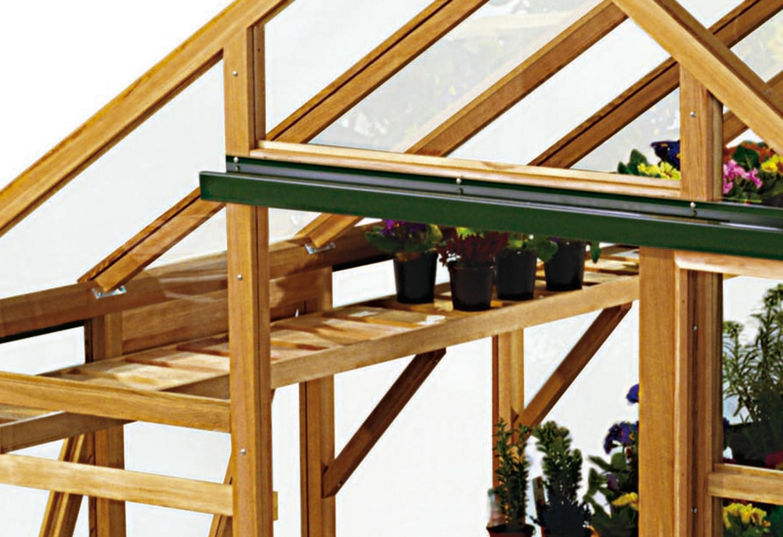 JULIANA Regal , BxT: 290x25 cm, für Gewächshaus»Classic 7,2«, aus Holz