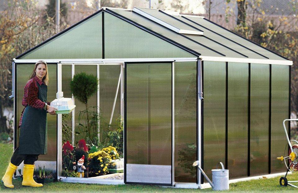 Gartenpro Gewächshaus »Profi 22 DT«, BxT: 306x306 cm mit 10 mm HKP in natur