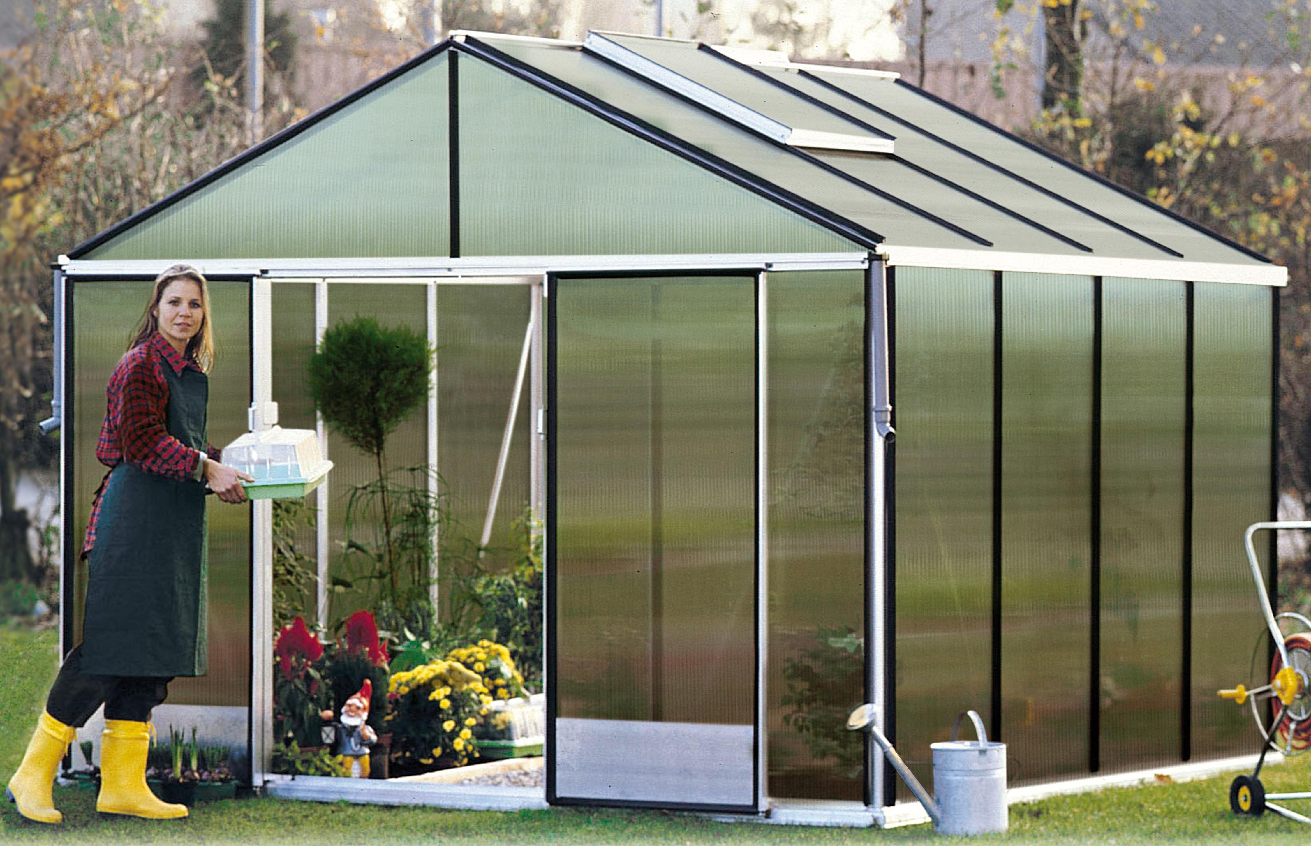 Gartenpro Gewächshaus »Profi 22 DT«, BxT: 306x306 cm mit 16 mm HKP