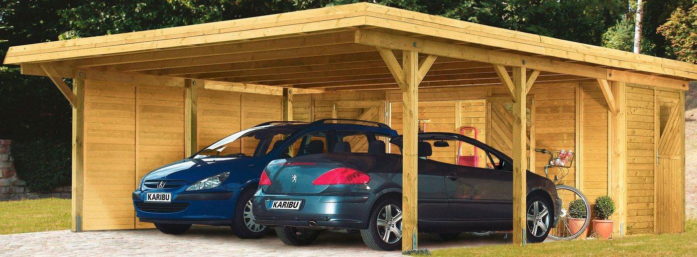 KARIBU H-Pfostenanker , für Doppelcarport »Eco 2«/»Eco 3« | Baumarkt > Garagen und Carports > Carports | Karibu
