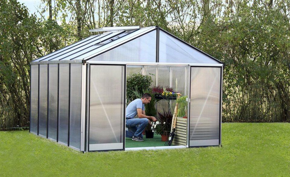 Gartenpro Gewächshaus »Profi 23 DT«, BxT: 306x381 cm mit 16 mm HKP in natur
