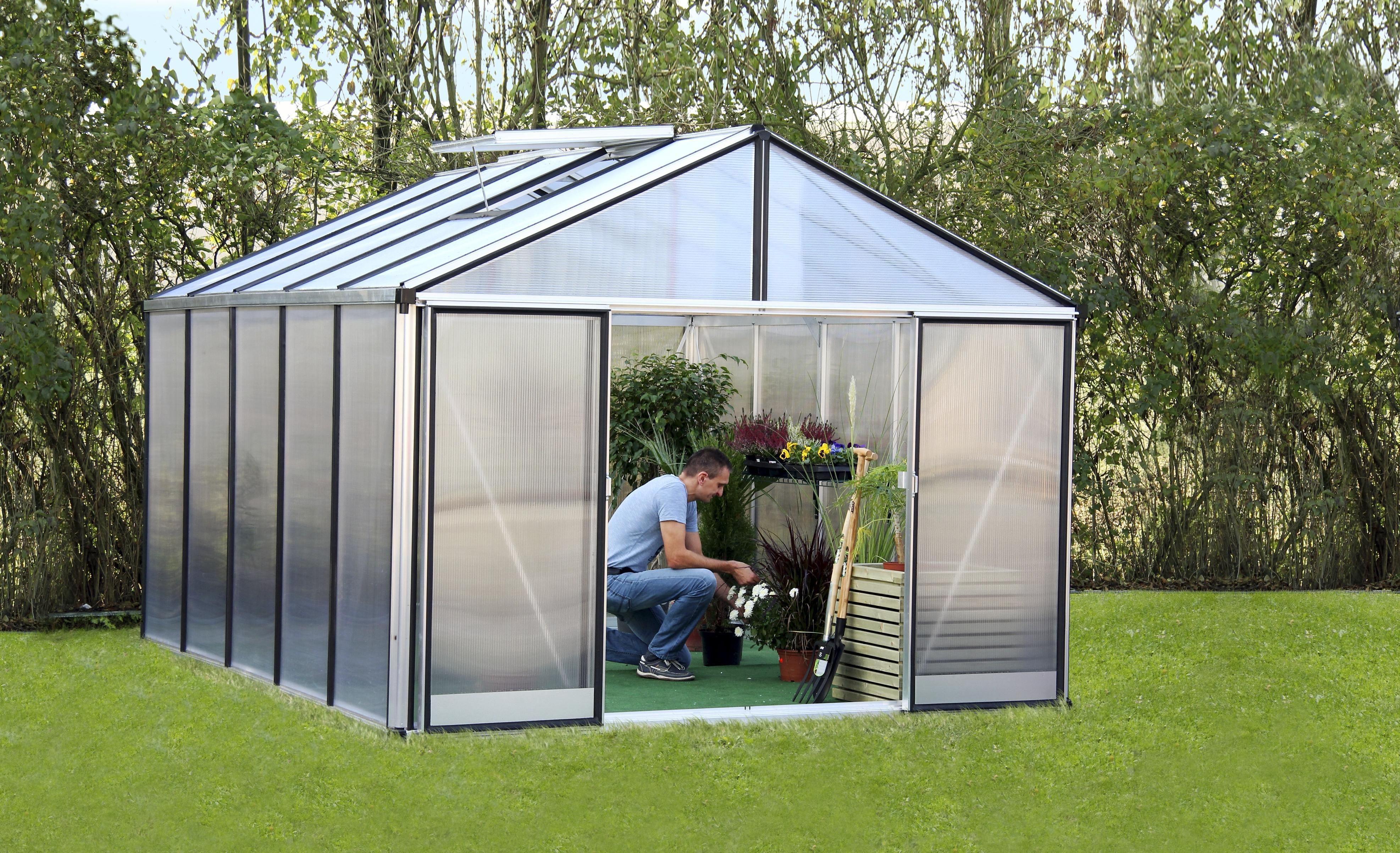 Gartenpro Gewächshaus »Profi 23 DT«, BxT: 306x381 cm mit 10 mm HKP