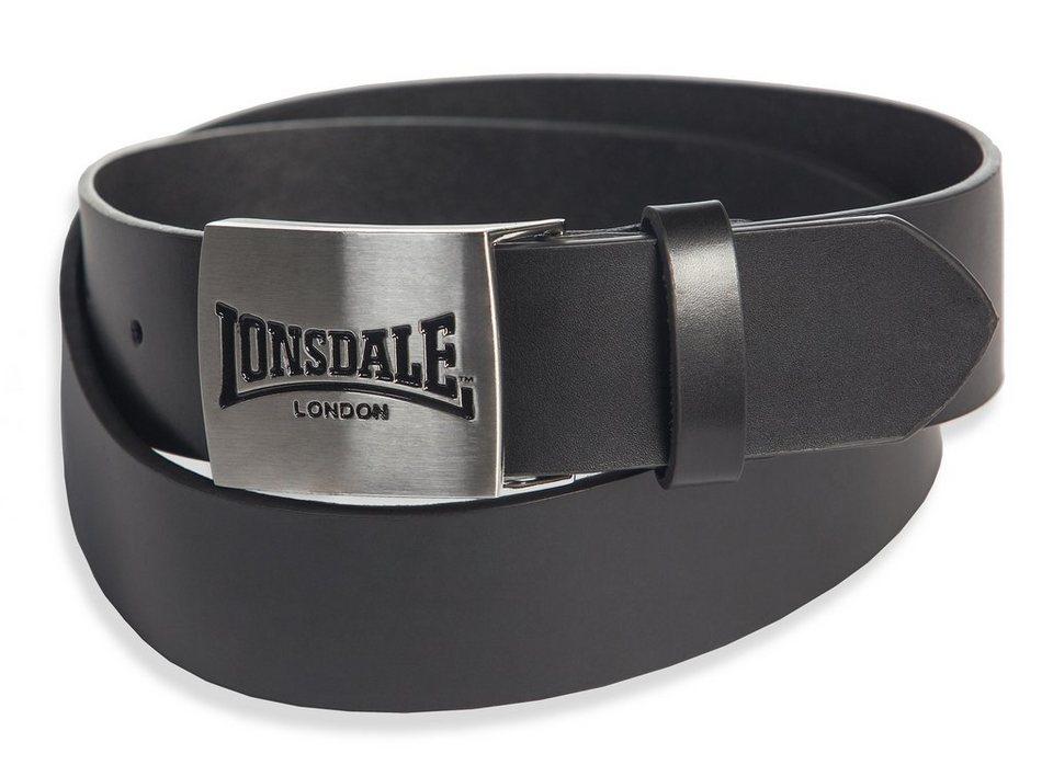 Lonsdale Gürtel »LONSDALE EMBOSSED« in Black