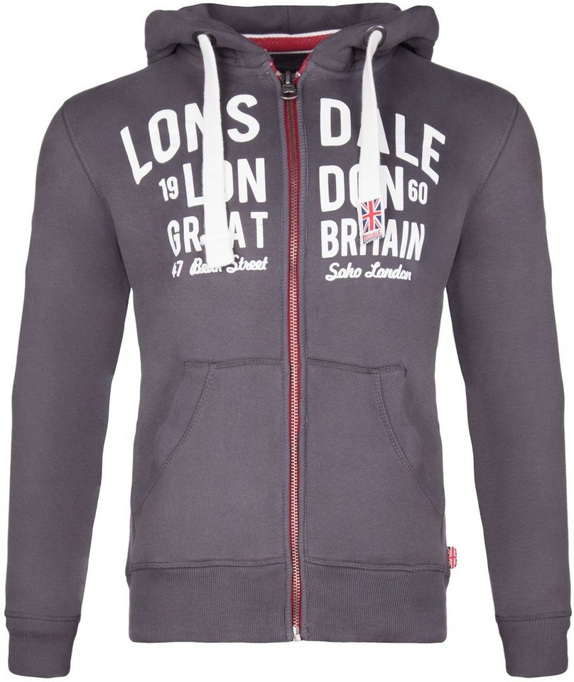 Lonsdale Zipjacke »WEST BROMWICH« in Anthracite