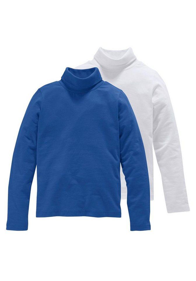 CFL Rollkragenshirt (Packung, 2 Stück), für Mädchen in Royalblau-Weiß