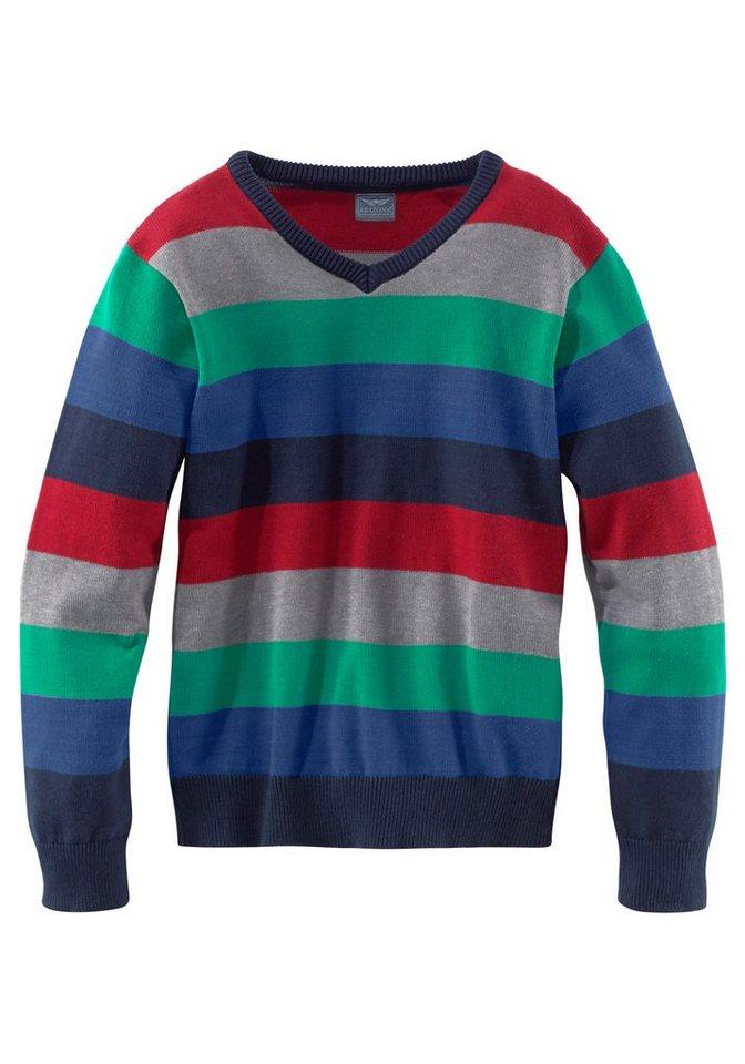 Arizona V-Ausschnitt-Pullover in bunt