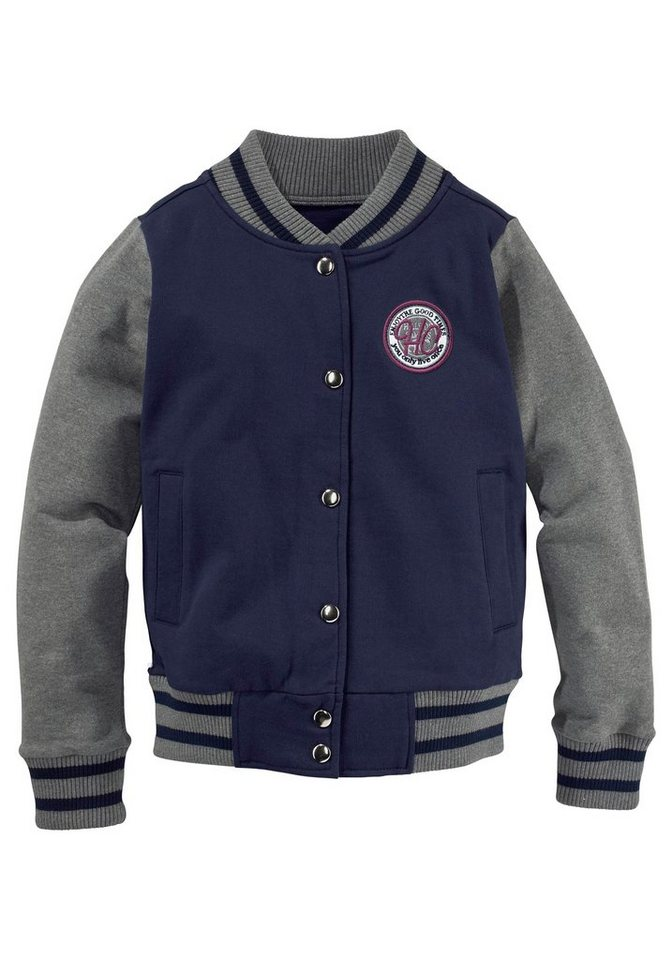 Arizona Sweatjacke in Collegeform in marine-grau