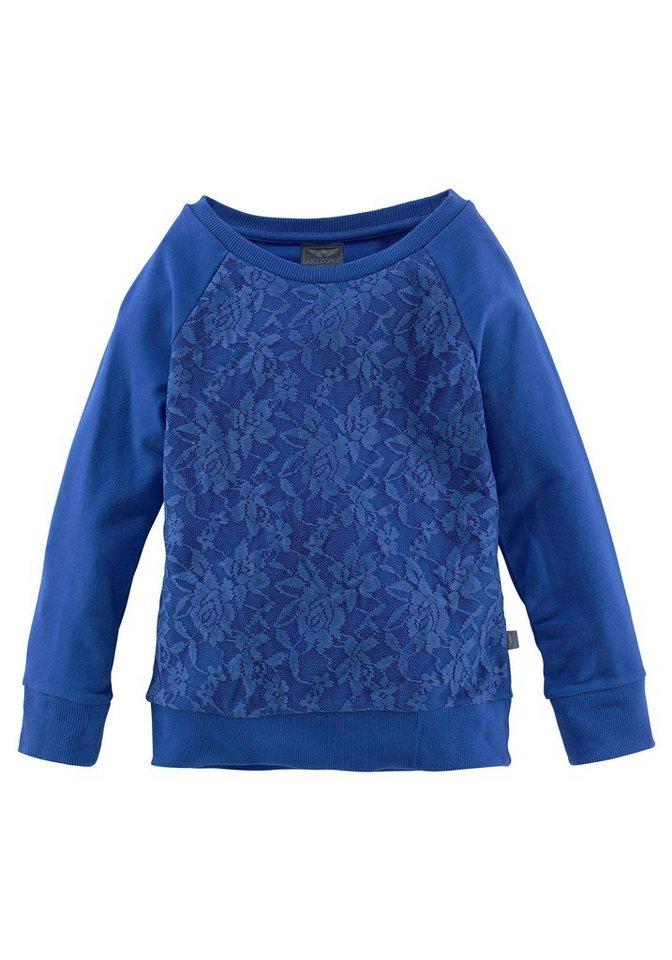 Arizona Sweatshirt mit Spitze in royalblau