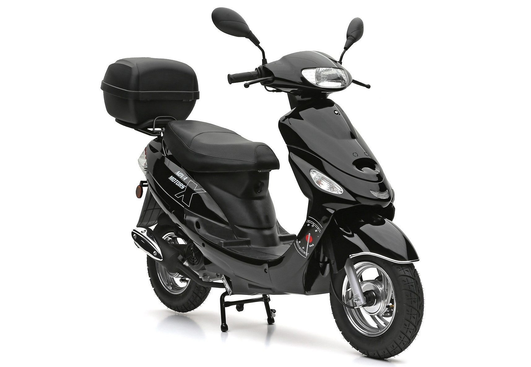 SET: Motorroller inkl. Topcase, 49-ccm, 45 km/h, »Eco Fox«, Nova Motors
