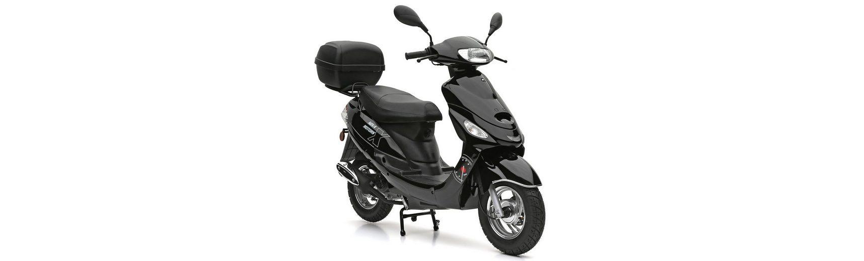SET: Mofaroller inkl. Topcas, 49-ccm, 25 km/h, »Eco Fox«, Nova Motors