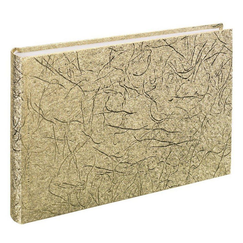 Hama Foto- und Gäste-Album Caracas, 30x20 cm, 60 weiße Seiten, Gold in Gold