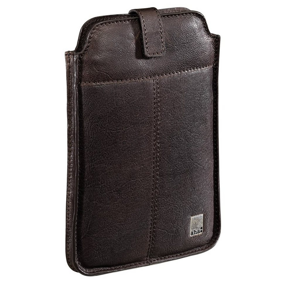 aha: Sleeve Vintage Small für Mini-Tablets, bis 17,8 cm (7), Leder in Braun