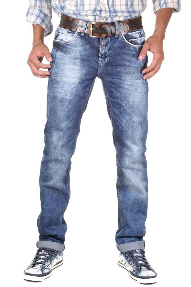 R-NEAL Jeans (stretch) straight fit in denim