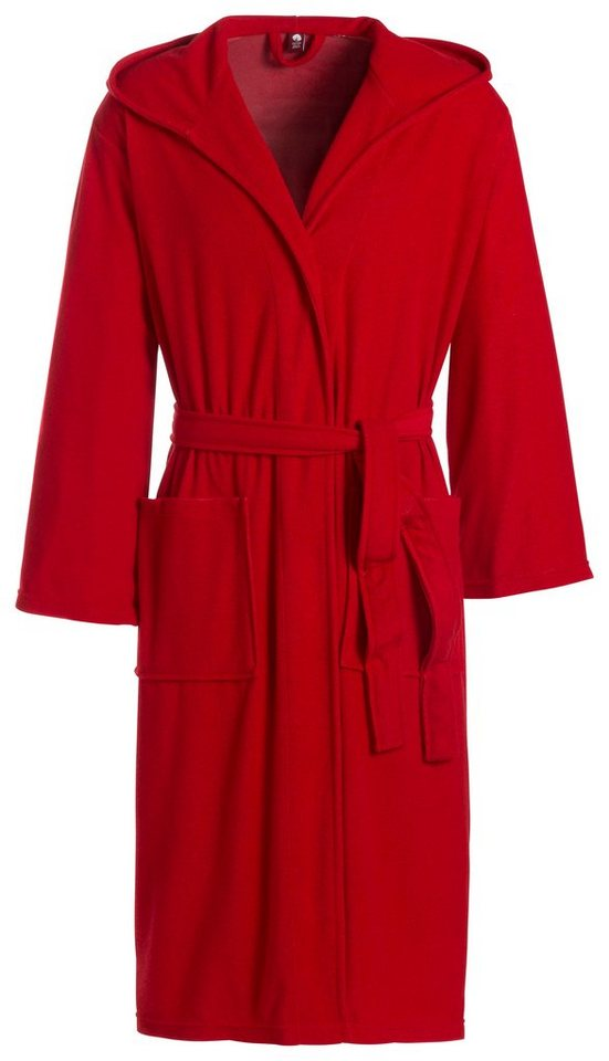 Damenbademantel, Ecorepublic Home, »Dresden«, in kräftigen Farben in rot