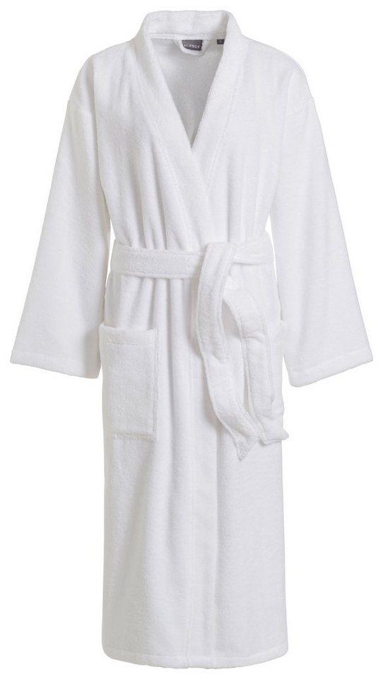 Unisex-Bademantel, Egeria, »Rimi«, in Kimonoform in weiß