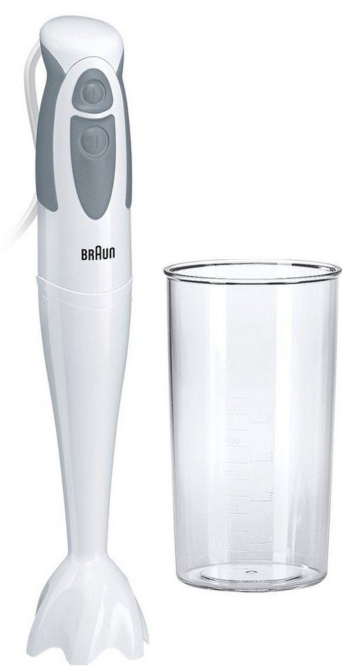 Braun Stabmixer »Multiquick 3 MQ 300 Soup«,, 550 Watt in weiß/grau