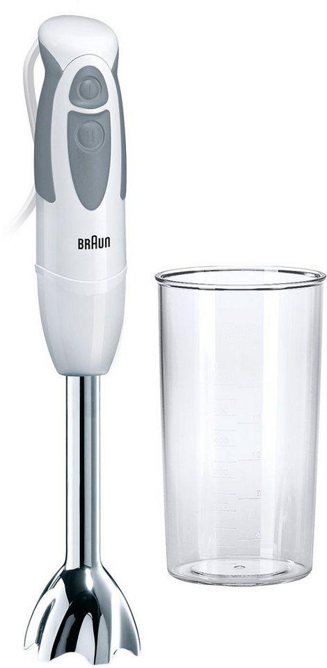 Braun Stabmixer »Multiquick 3 MQ 300 Curry«, für einfaches Pürieren, 550 Watt in weiß/grau