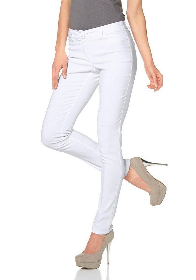 Melrose Röhrenhose in weiß