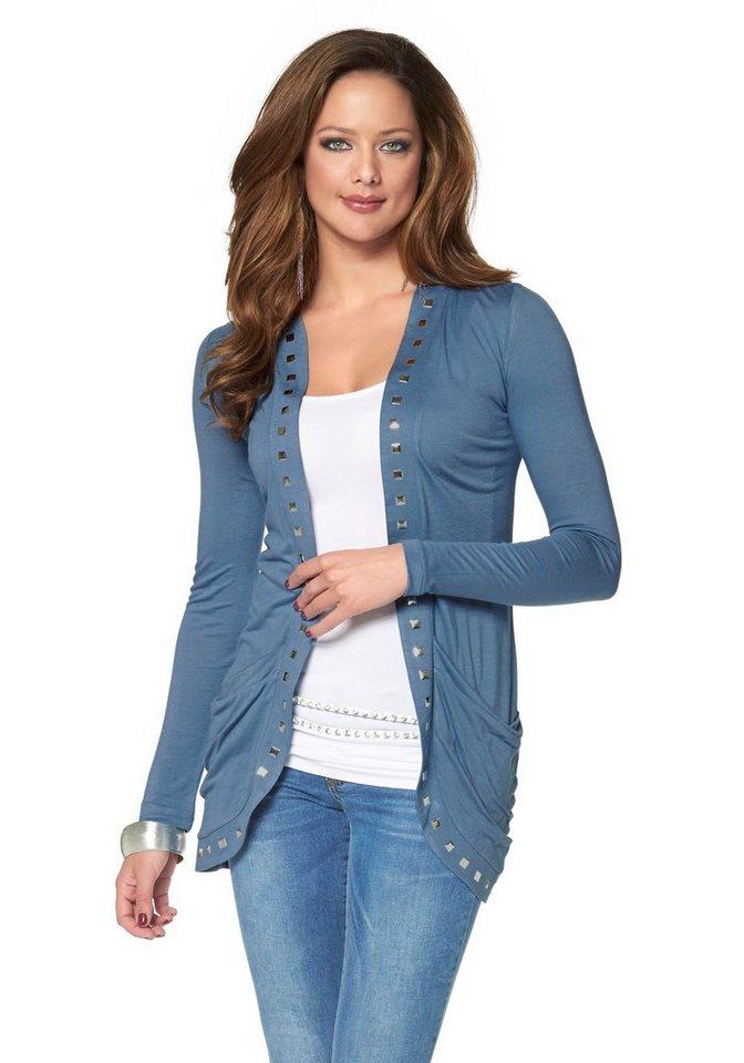 Melrose Shirtjacke mit Nieten in blau