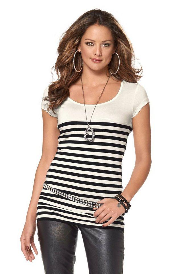 Melrose Ringelshirt in schwarz-weiß