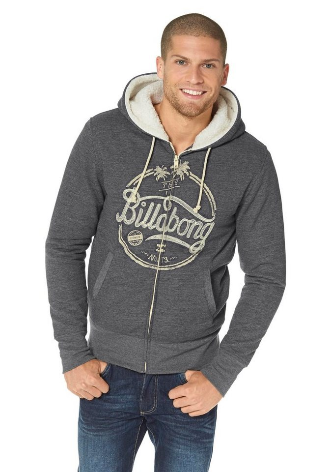 Billabong TRADE GOOD ZH Kapuzensweatjacke in Grau-Meliert