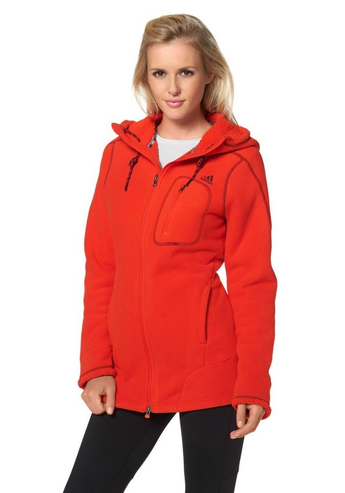 adidas Performance Funktions-Kapuzensweatjacke in Dunkelorange