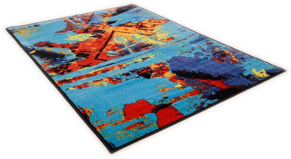 Teppich »Sydney 800«, Theko, rechteckig, Höhe 10 mm in blau