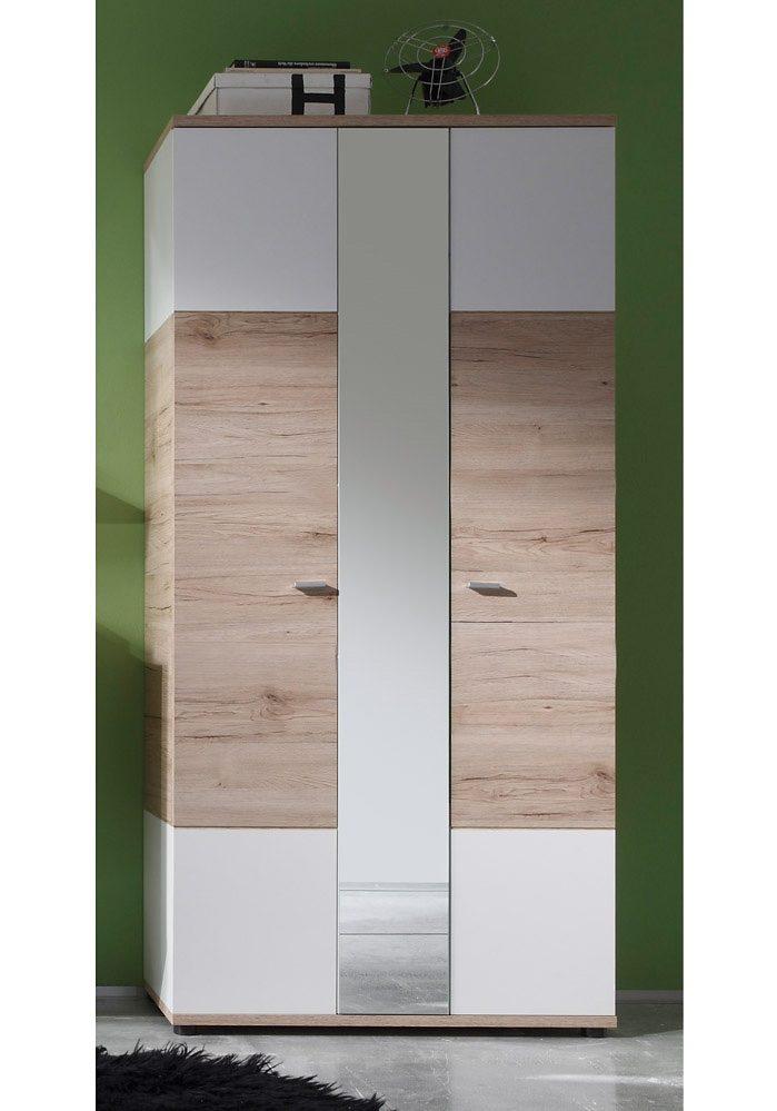 Garderobenschrank »CAMPUS«, mit Spiegel und ausziehbarer Kleiderstange