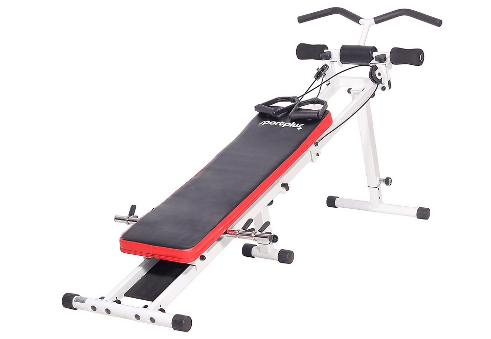 Multifunktionstrainer, »Power Gym SP-TG-001«, Sportplus in Weiß/Schwarz/Rot