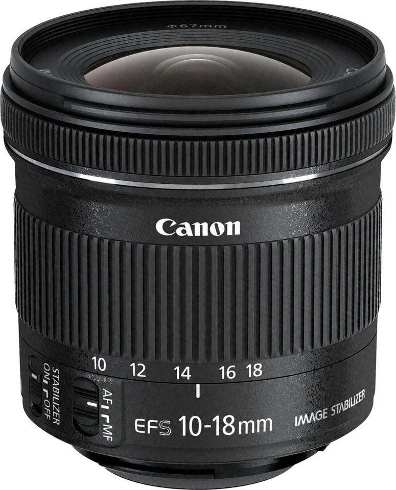 Canon EF-S 10-18mm f/4.5-5.6 IS STM Ultraweitwinkel Objektiv in schwarz
