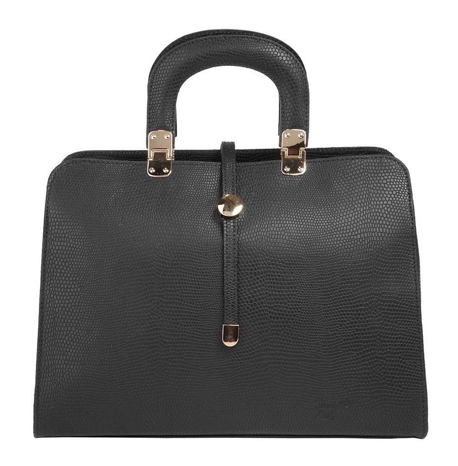 Samantha Look Leder Damen Handtasche in schwarz