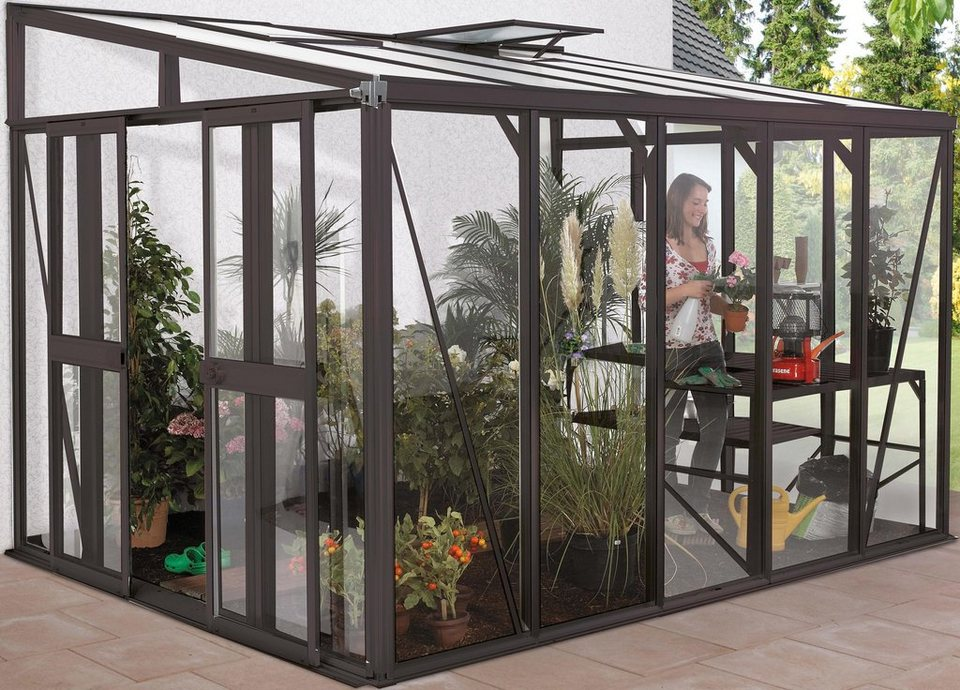 vitavia t r bxh 119x176 cm f r gew chshaus helena dunkelgrau online kaufen otto. Black Bedroom Furniture Sets. Home Design Ideas
