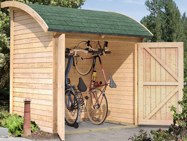 KARIBU Fahrradunterstand , aus Holz, B/T/H: 185/225/155 cm