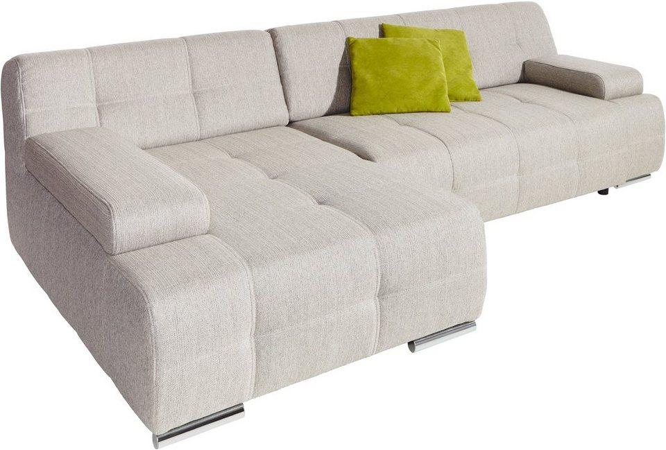 Polsterecke, Sit & More, wahlweise mit Bettfunktion in beige/grau