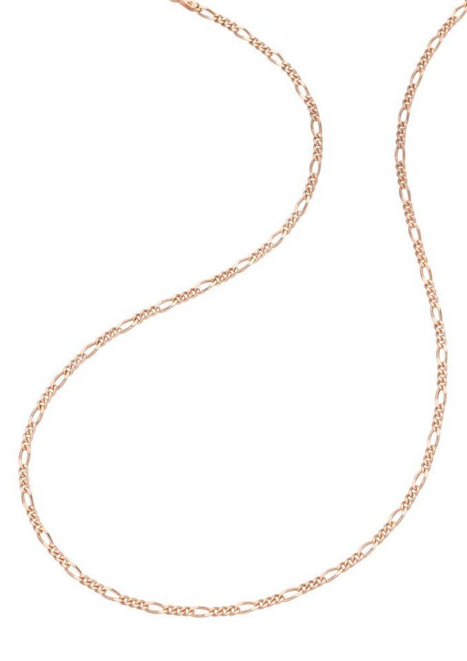 firetti Halsschmuck: Halskette / Collierkettchen in Figarokettengliederung in silber 925/roségoldfarben