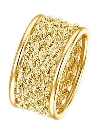 firetti Ring in Fantasiekettengliederung in Gold 375
