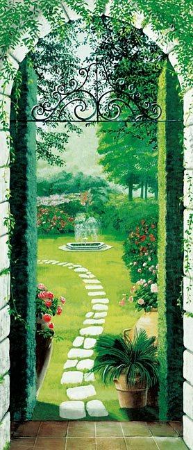 Türposter, Home affaire, »Vista dal Porticato«, 86/200 cm in grün